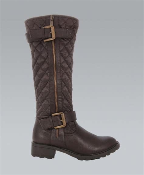 krisp brown quilted knee high boots krisp from krisp