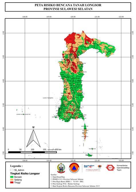 layout peta adalah lokakarya ii kajian risiko bencana di sulawesi selatan