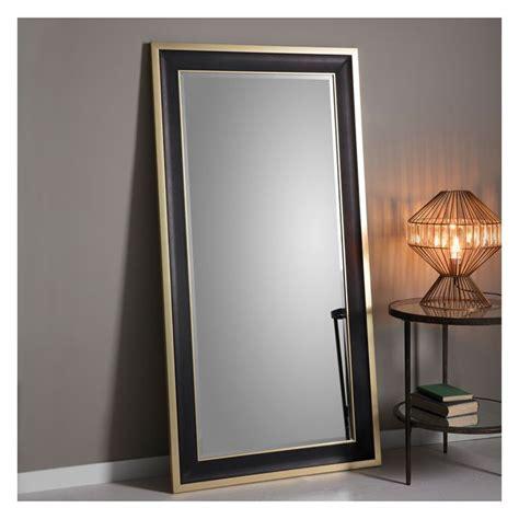 black mirror grain dark grain leaner mirror with gold trim 80x156cm