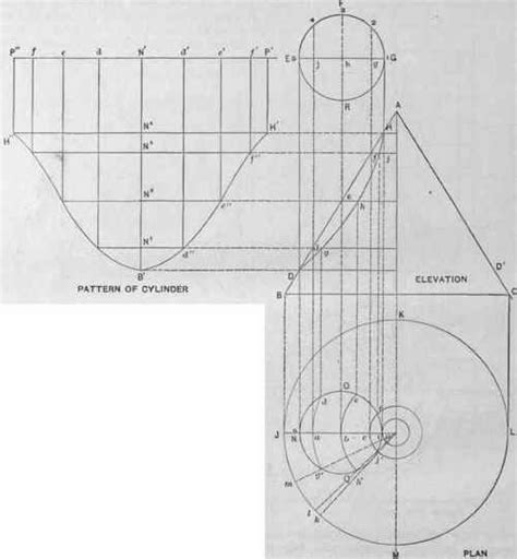 pattern sheet metal cone cone intersection pattern pevelopment crafts pinterest