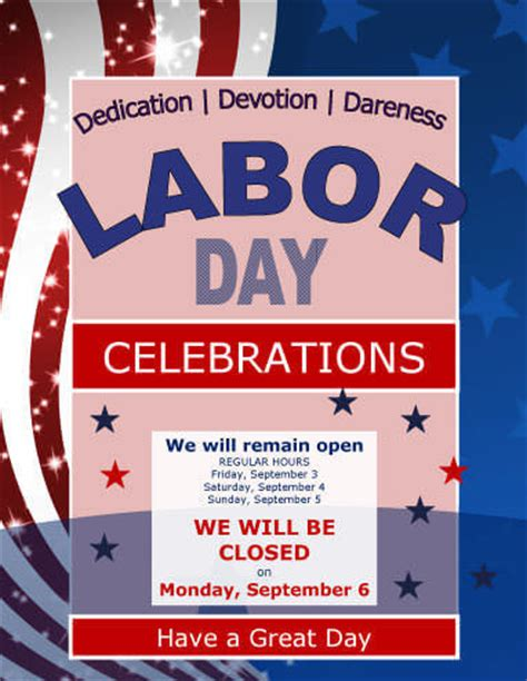 14 Free Labor Day Flyers Closure Flyer Template