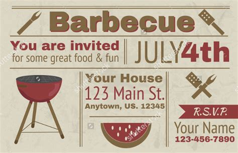 28 Barbeque Invitation Templates Free Sle Exle Format Download Free Premium Templates Free Bbq Invitation Template