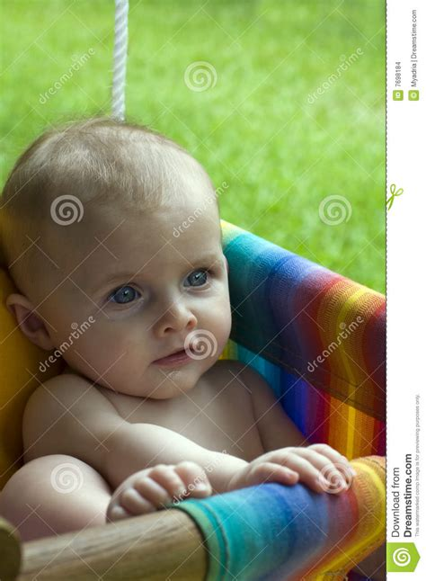 baby on swing baby on swing stock images image 7698184