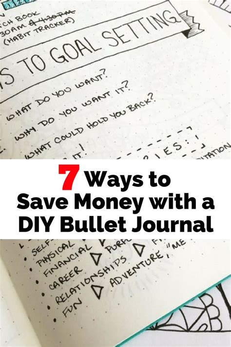7 ways to save money 7 ways to save money with a diy bullet journal the