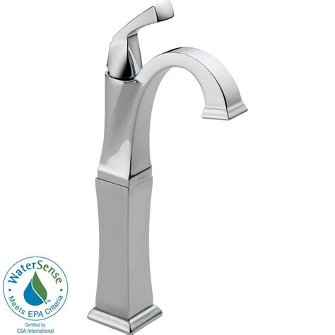 delta single hole 1 handle chrome specialty bathroom sink delta dryden single hole single handle vessel bathroom
