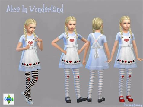 sims 4 cc kids alice in wonderland costume by persephaney at tsr via sims