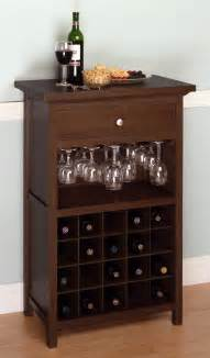 Kitchen Cabinet Wine Storage Winsome Wine Cabinet With Drawer And Glass Rack By Oj Commerce 94441 163 07