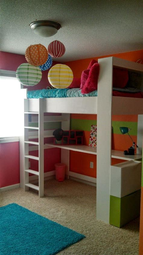 ana white  daughters loft bed  room diy projects