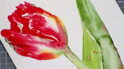 watercolor tutorial for beginners youtube tulip watercolor painting tutorial for beginners youtube