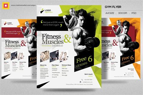 fitness flyer template free 20 fitness flyer template psd for fitness center and