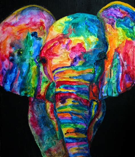 colorful elephant wallpaper colorful elephant background