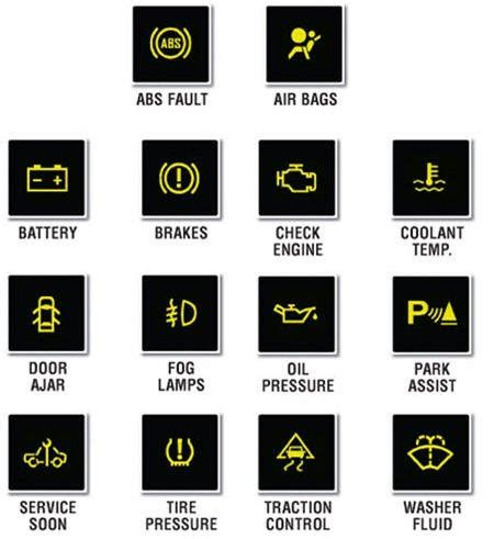 2015 honda accord warning lights warning lights