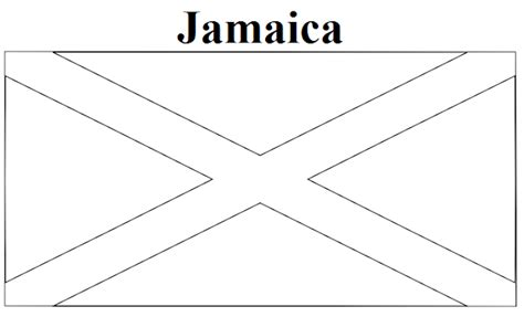 jamaica flag color geography jamaica flag coloring page