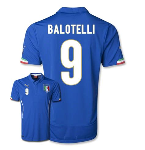 Blouse Baloteli New 2014 15 italy world cup home shirt balotelli 9 for only 163 26 38 at merchandisingplaza uk