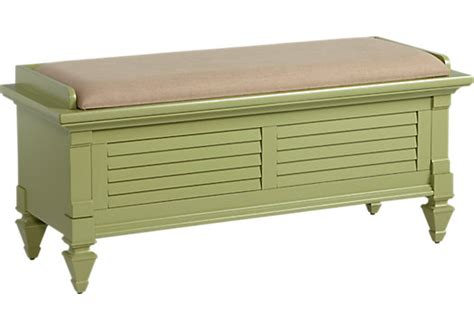 green storage bench belmar green storage bench accent pieces colors