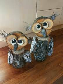 Fall Door Decoration Ideas - wood log owl decorations crafty morning