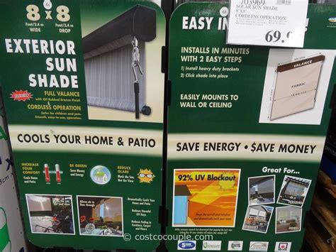 outdoor patio shades costco home solar exterior sun shade