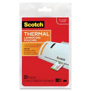 business card laminating sheets scotch thermal laminating pouches