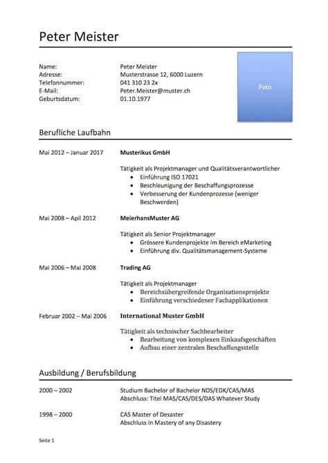 Vorlage Tabellarischer Lebenslauf by Lebenslauf Muster Muster Und Vorlagen Kostenlos