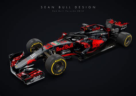 red bull racing porsche and red bull racing f1 car is oh so tempting