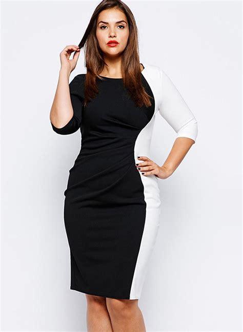 s color block dresses s fashion plus size color block bodycon dress