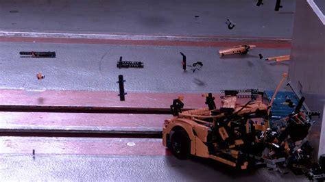 Porsche 911 Crash Test by See This Lego Porsche 911 Explode In Hilarious Slo Mo