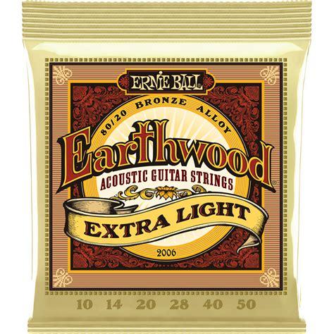 ernie ball earthwood light ernie ball earthwood extra light acoustic guitar strings