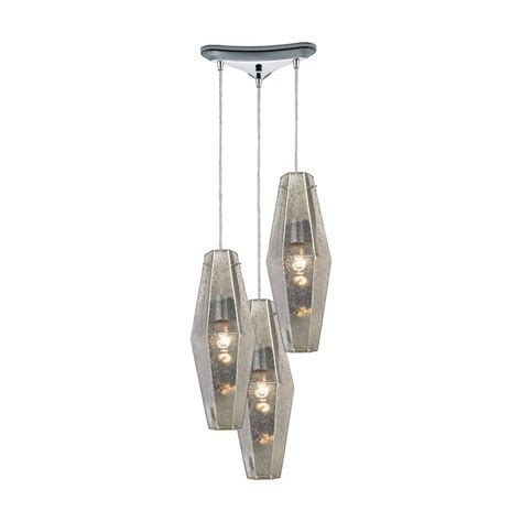 glass tile 1 light polished chrome pendant tn 75205 the