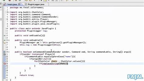 plugin pattern java exle bukkit plugin tutorial changing players name tag color