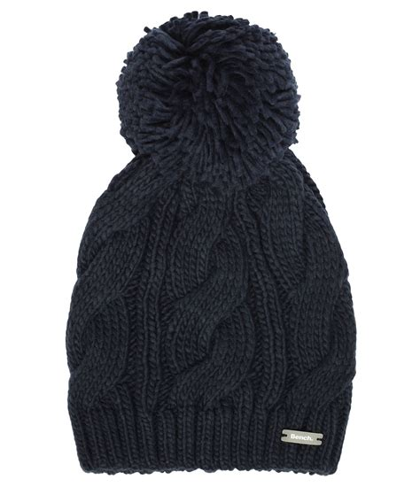 bench beanie hat bench lavendah b bobble beanie hat in blue lyst