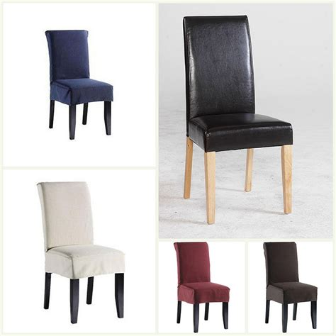 Short dining chair covers polyester 6 colours dining room chairs good quality ebay