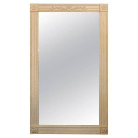 White Floor Length Mirror by Italian White Washed Large Mirror For Sale At 1stdibs