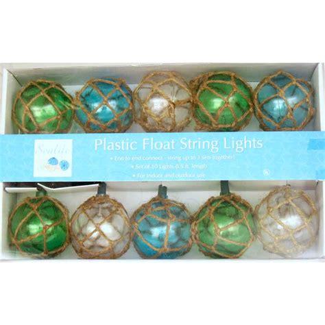Vintage Glass Style Buoy Float Electrig String Lights Glass Float String Lights