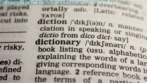 What is a Dictionary?   Definition, Use & History   Video