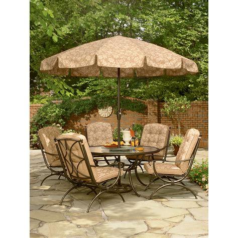 addison patio dining table  lazy susan improve
