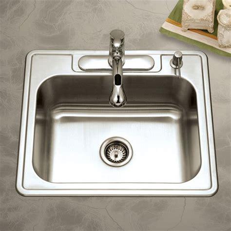 Wide Kitchen Sink Glowtone Series Stainless Steel Topmount Kitchen Single Bowl Sink 25 Wide By Houzer