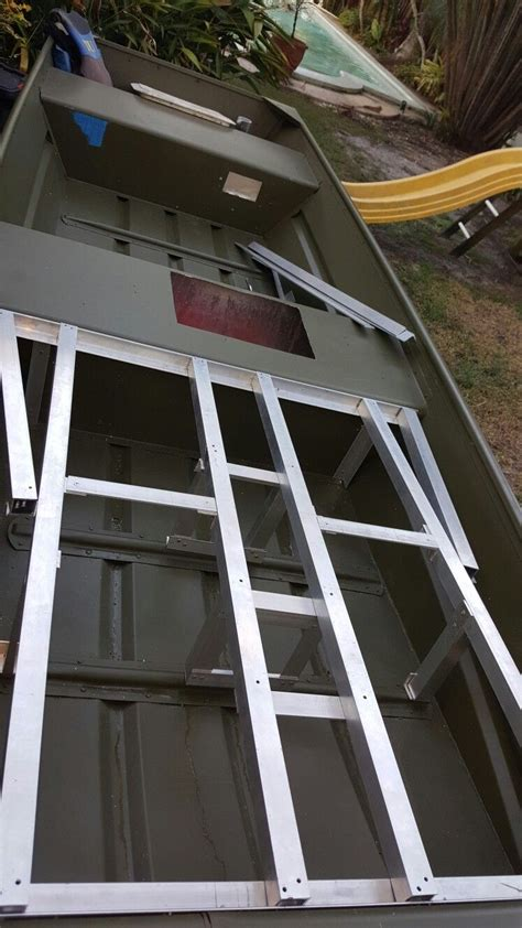 jon boat aluminum casting deck frame jon boat project - Aluminum Framing For Jon Boat Deck