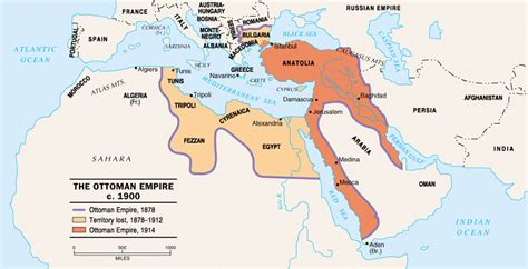 map of ottoman empire 1900 civilization past present illustrations