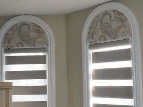 Blackout flat arch window valance coordinates with sun shut combi