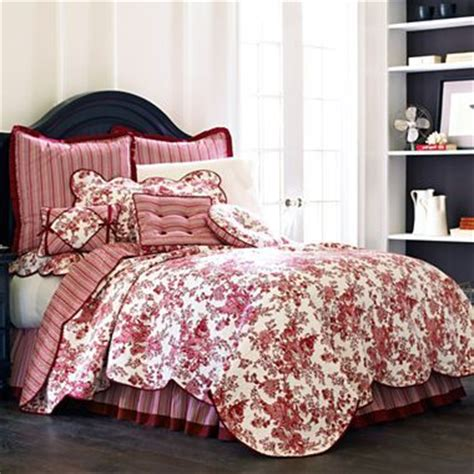 toile garden bedskirt jcpenney bedding and linens
