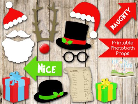 printable christmas themed photo booth props best photos of printable christmas photo booth props