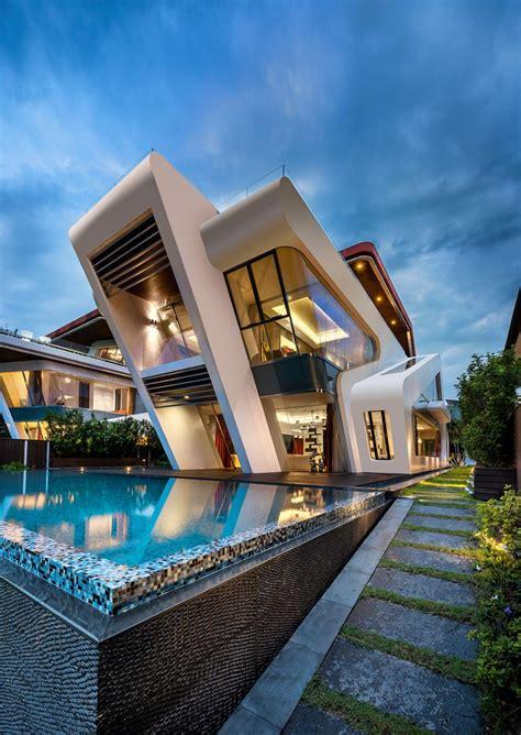 architectural homes mercurio design lab create a modern villa in singapore
