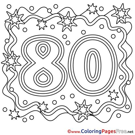 80 years of color books 80 years coloring sheets happy birthday free