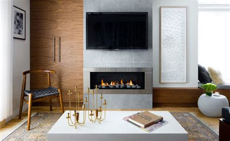 linear fireplace with tv above toronto home magazine editorial 183 more info