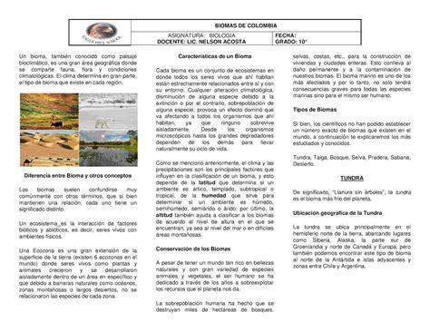 d nde empiezan las clases tn ar calam 233 o tipos de biomas