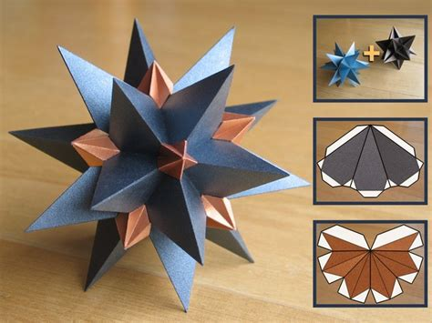 Origami Diagrams Compound Of Dodecahedron And Great - great stellated dodecahedron