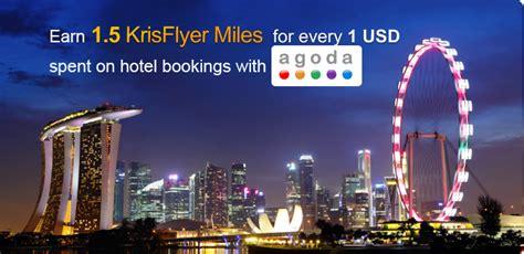 agoda singapore agoda com and singapore airlines krisflyer partner to