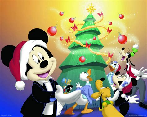 disney mickey mouse christmas cartoon wallpaper