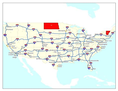 map of the united states with major highways best map of major interstates in us map road usa 2 of