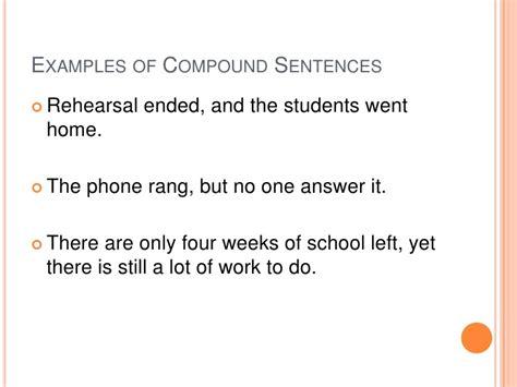 exle of compound sentence simple complex compound sentences
